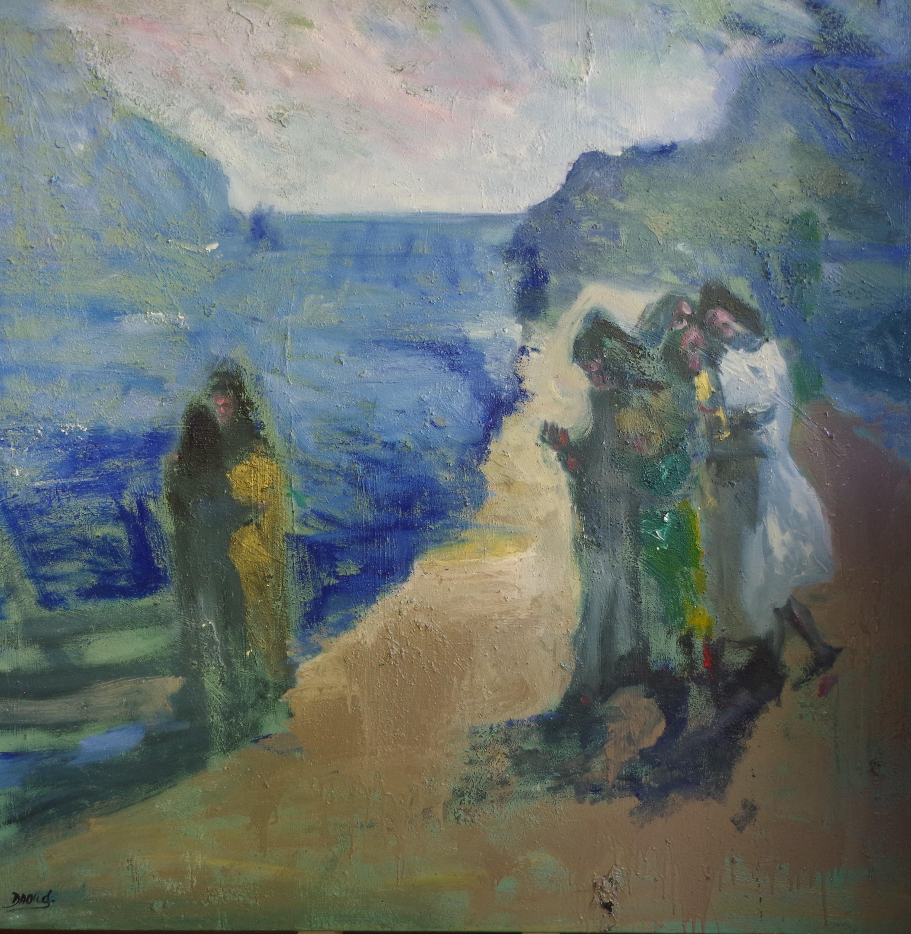 La Soiree Huile Sur Toile by Daoud Peintre